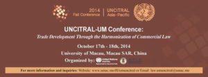 UNCITRAL-UM 2014 Fall Conferece