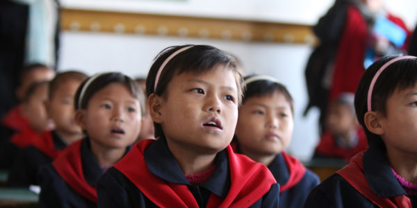 19 Oct 2011 – Students at the WFP, UNICEF-supported Provincial Boarding School in Hamhung City, DPRK