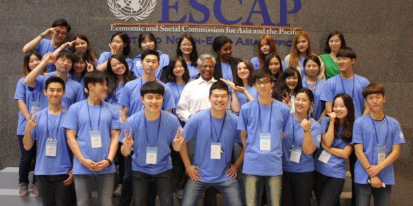 UN Day volunteers and UNESCAP-ENEA staff